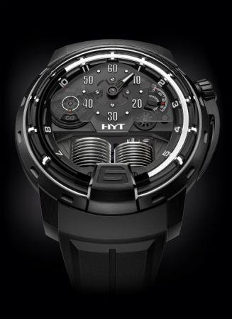 HYT H1 Ghost 液壓顯示腕錶,建議售價NT2,280,000。