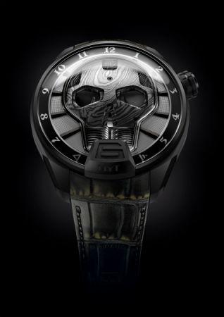 HYT Skull Bad Boy 液壓顯示腕錶,建議售價NT3,380,000。