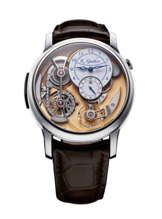 Romain Gauthier Logical One玫瑰金腕錶,建議售價NT4,720,000。