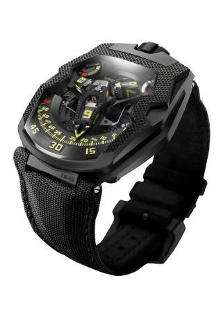 URWERK UR-210 CP 巴黎釘紋腕錶,建議售價NT5,180,000。