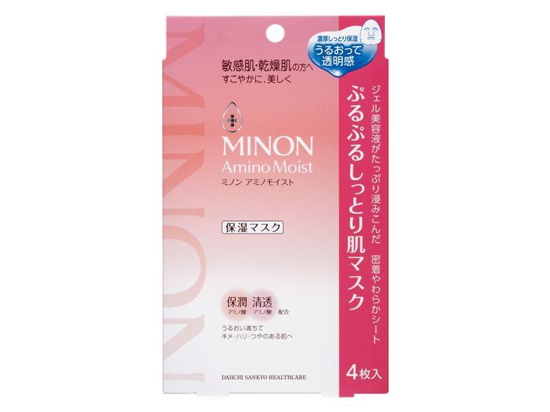 MINON蜜濃水潤保濕修護面膜22ml*4枚,NT515。