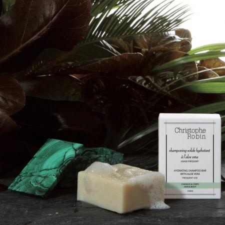 Christophe Robin蘆薈保濕修護洗髮皂,100g/NT780。