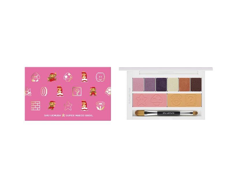 植村秀SUPER MARIO聯名限量彩妝瑪利歐與碧姬公主眼頰彩盤,NT2,800