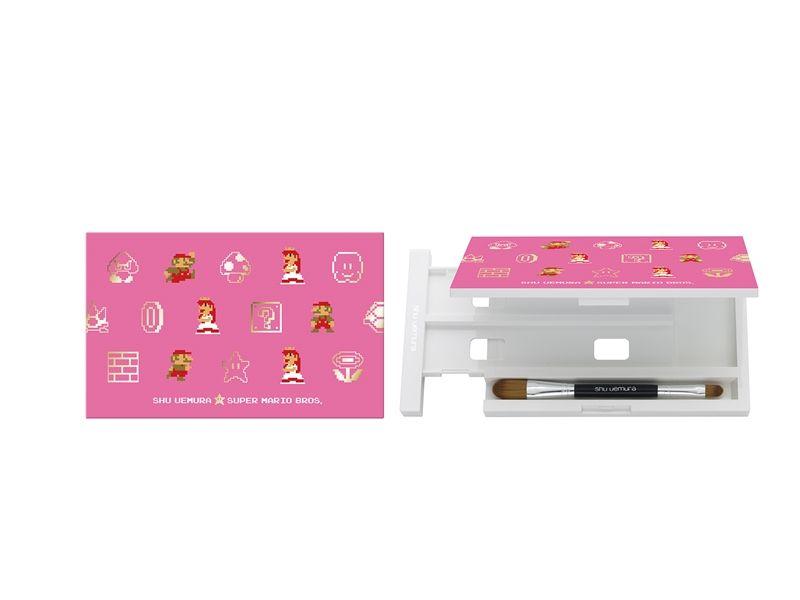 植村秀SUPER MARIO聯名限量彩妝瑪利歐與碧姬公主八色蕊盒,NT700