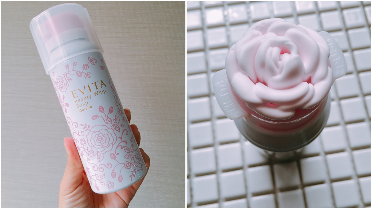 一整朵玫瑰花泡沫變成粉紅色了!Evita玫瑰泡沫潔顏慕斯推粉紅限定版,每次洗臉都好療癒