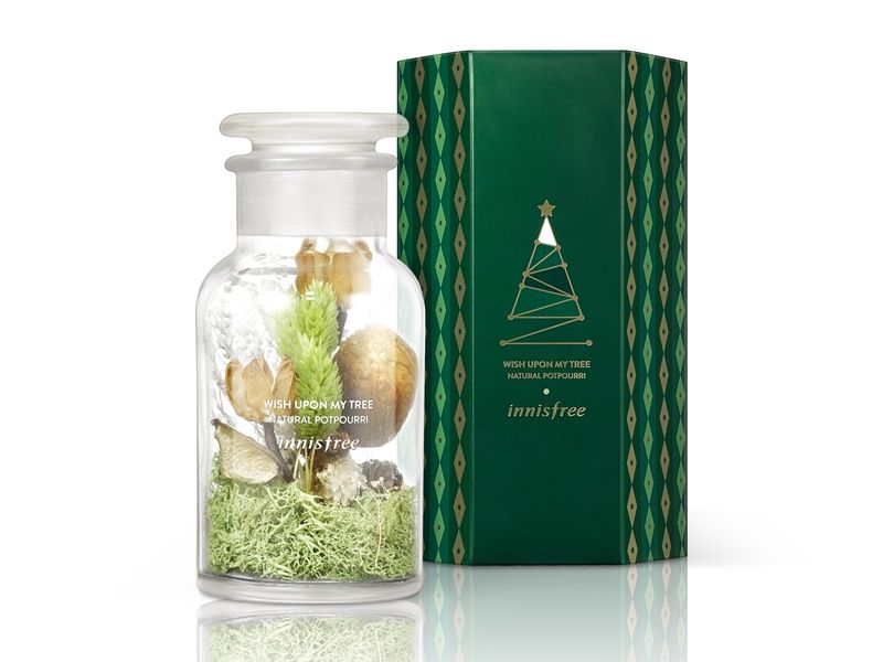 innisfree 2017綠色聖誕心願滿滿聖誕樹香氛花,NT850