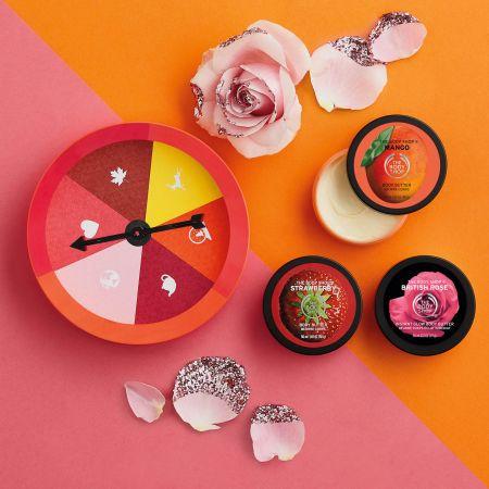 THE BODY SHOP甜心果香滋養霜原裝禮盒 (英皇玫瑰 + 芒果 + 草莓滋養霜 50ml*30)NT880