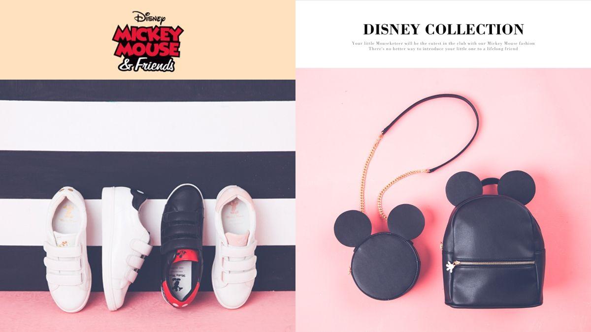 每個細節都可愛!Grace gift最新迪士尼聯名系列小白鞋、米奇鍊包開箱