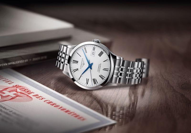 Longines 浪琴表Record系列不銹鋼鍊帶男士腕錶 (L2.821.4.11.6)