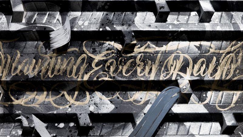 Creepy MouseCalligrapier 書法藝術家「為什麼要叫CreepyMouse?」因為在普羅大眾眼裡塗鴉人就像老鼠一樣,在夜深人靜時遊走啃食街道上的牆消化成一張張的畫布,2015年受邀加入國際藝術團隊Calligraffiti擔任大使。內容主要是表達生活中的情緒激發,有時則是對於生命的看法或體悟,將文字抽象化再搭上寫實風格的圖文結合編排。
