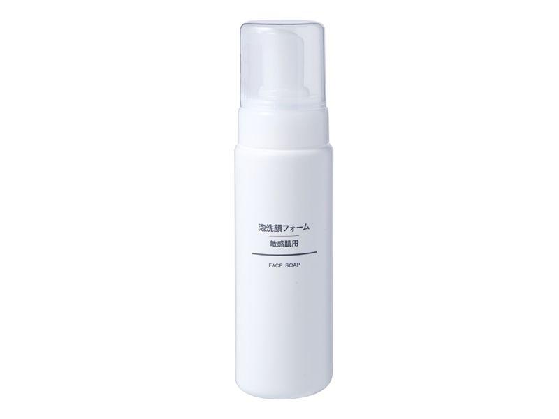 MUJI無印良品敏感肌泡沫洗面乳200ml,NT330