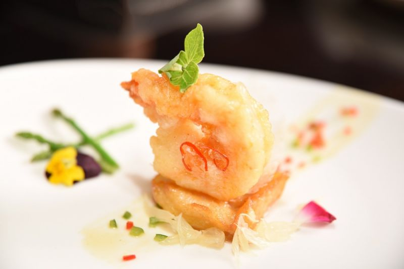 柚子蜜琥珀蝦球脆鱈
