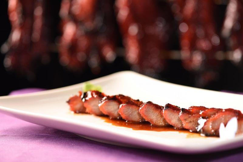 紫艷中餐廳全新西班牙伊比利豬蜜汁叉燒