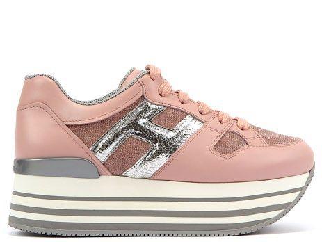 台灣限定款- HOGAN MAXI H222 粉紅拼接休閒鞋 NT$20,600