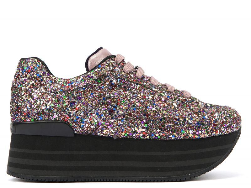 HOGAN MAXI H222 彩色星砂繫帶休閒鞋 售價NT$22,200