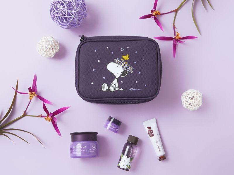 innisfree X Snoopy 濟州寒蘭複合滋養霜小紫盒形象圖