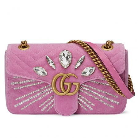 GG Marmont 水晶裝飾鍊帶包, NT$ 99,900