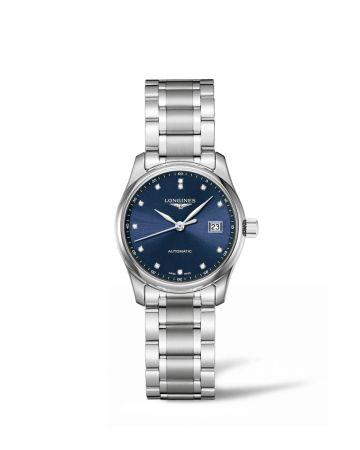 29毫米不鏽鋼鍊錶點鑽時標午夜藍女錶