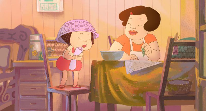 媽媽撿菜的時候,你也會在旁邊聊天幫忙嗎?