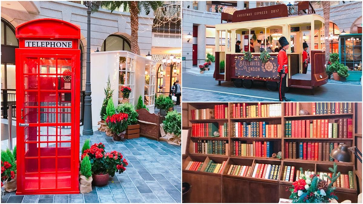 上次是白雪聖誕樹、這次是舊倫敦街頭,BELLAVITA絕美聖誕造景又來了!復古書店、蔬果攤、叮噹電車每一處都好拍