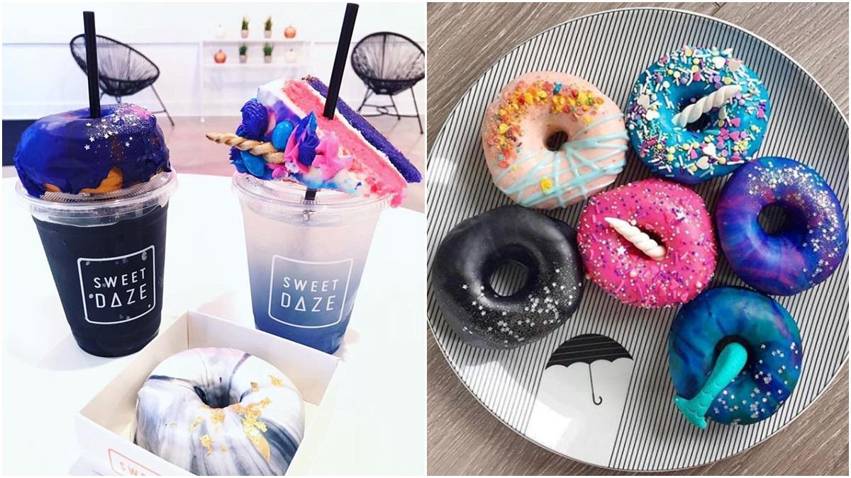 「放上美人魚尾巴、獨角獸角的甜甜圈也太Q」這間Sweet Daze Dessert Bar不只甜甜圈美翻,還有繽紛霜淇淋和漸層氣泡飲