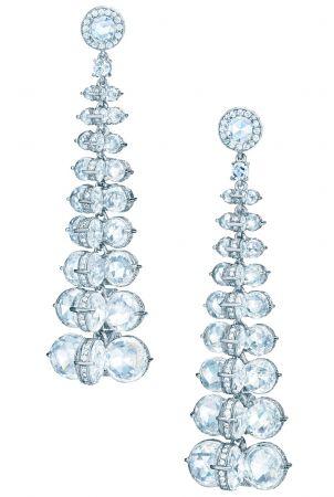 Tiffany 垂墜式鉑金鑽石耳環(Gal Gadot 佩戴款) NT$8,170,000