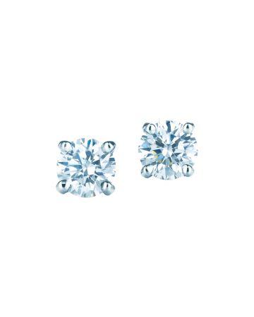 Tiffany 鉑金單鑽耳環(Margot Robbie 瑪格羅比與Natalie Portman娜塔莉波曼佩戴款) 價格店洽