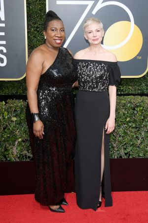 Michelle Williams米雪兒威廉斯以路易威登高級珠寶為出席第75屆金球獎頒獎典禮的紅毯行頭