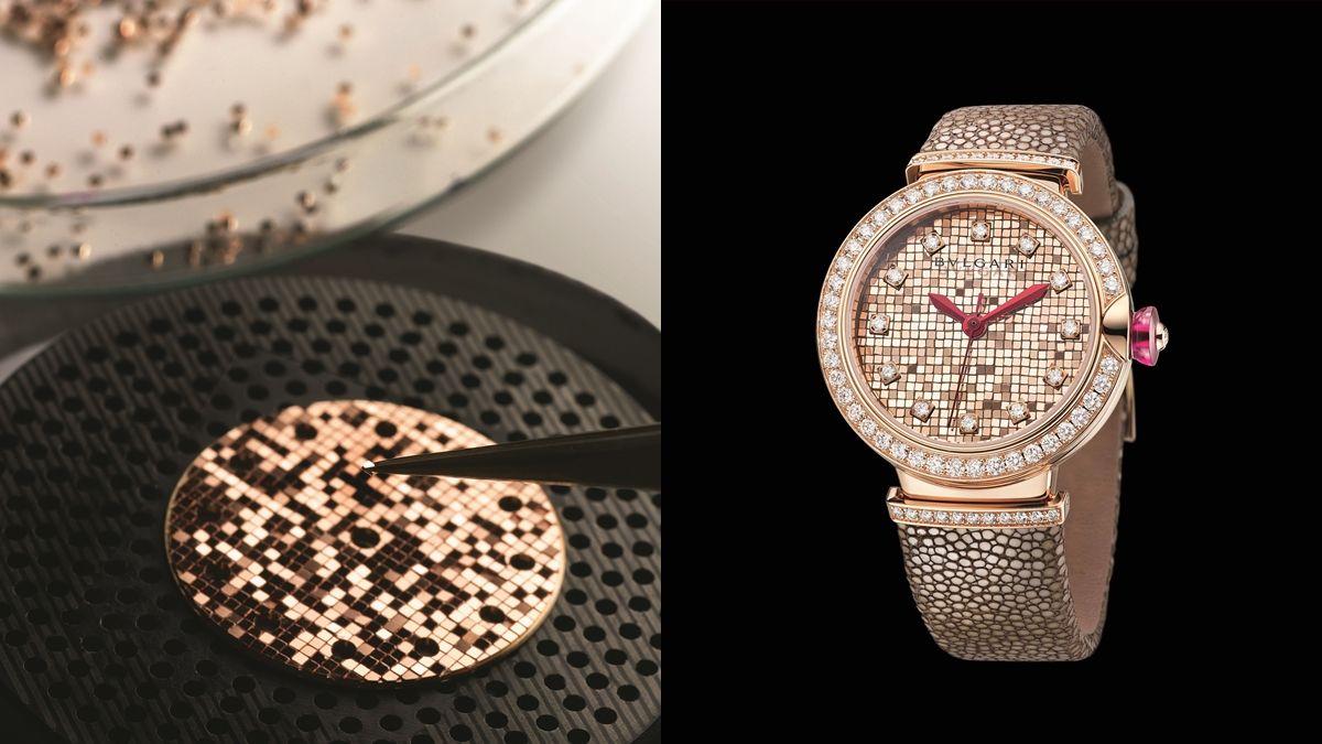 【鐘錶小學堂】700個微型金磚、每塊大小0.84mm…寶格麗Bulgari Lucea Mosaic腕錶的工藝揭密!