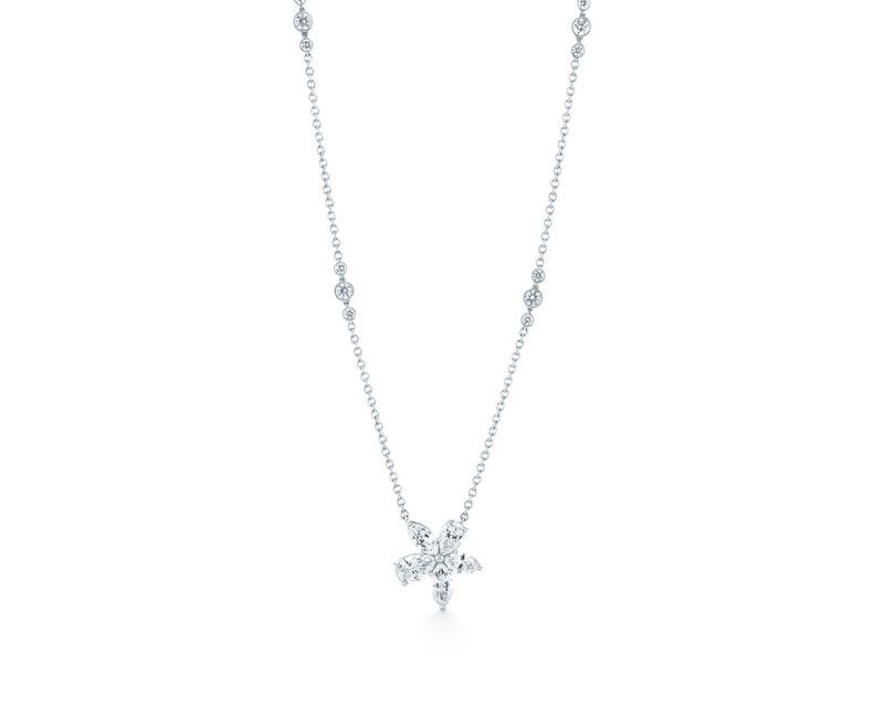 Tiffany Victoria鑽石鉑金項鍊