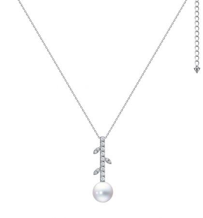 TASAKI kugel 南洋珍珠鑽石白金項鍊,NT195,000。