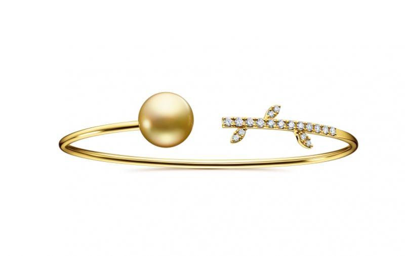 TASAKI kugel 南洋珍珠鑽石黃金手環,NT151,000。