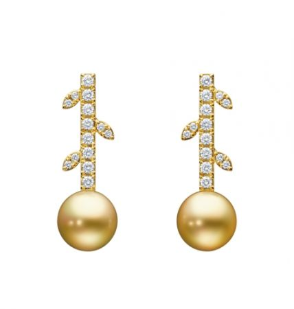 TASAKI kugel 南洋珍珠鑽石黃金耳環,NT228,000。