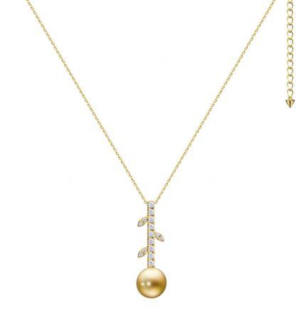 TASAKI kugel 南洋珍珠鑽石黃金項鍊,NT195,000。
