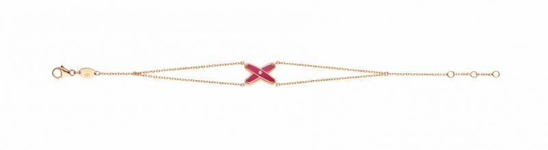 Jeux de Liens 18K玫瑰金手鏈 - 紫粉紅(限量),建議售價NT42,000。
