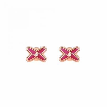Jeux de Liens 紫粉紅耳環 (限量),建議售價NT36,000。