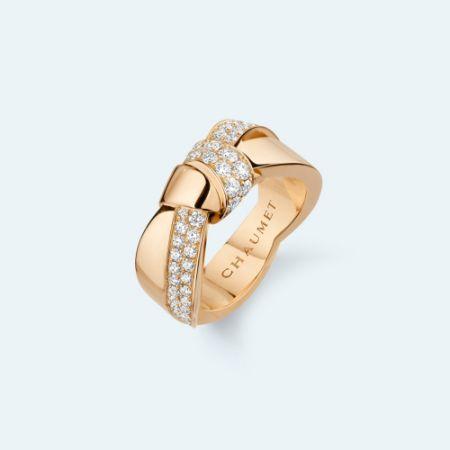 Liens Séduction 玫瑰金戒指,建議售價NT309,000。
