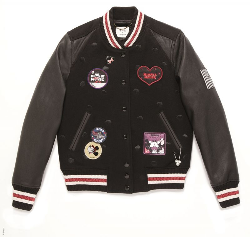 Minnie Mouse Varsity Jacket_BLK TWD35,800