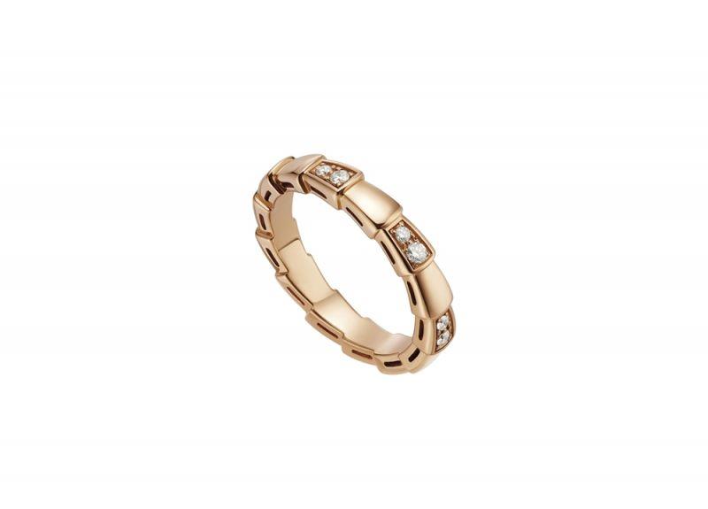 SERPENTI VIPER RING玫瑰金鑽石戒指_參考售價約NT$77,800
