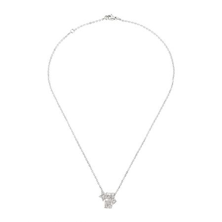 Comète Spirale項鍊18K白金鑲嵌23顆明亮式切割鑽石。建議售價NT145,000元