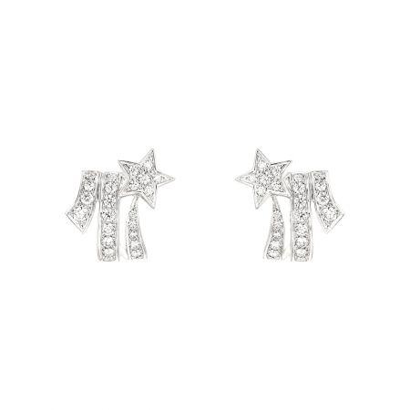 Comète Spirale耳環18K白金鑲嵌52顆明亮式切割鑽石。建議售價NT237,000元