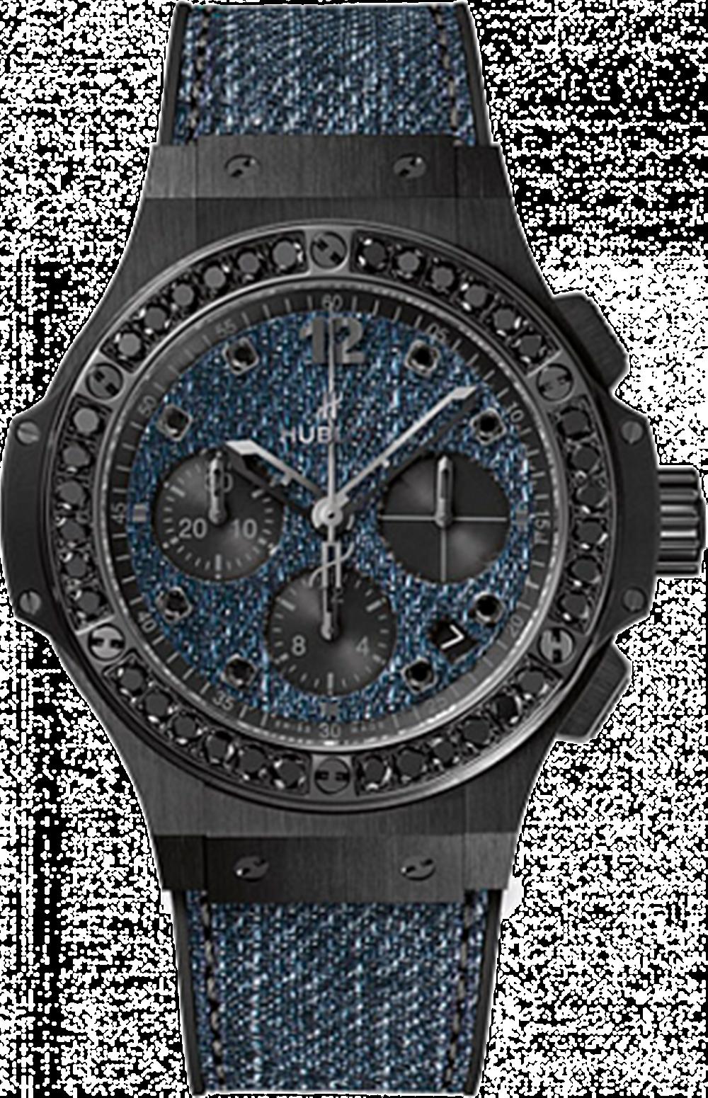 Big Bang 系列丹寧陶瓷黑鑽腕錶NTD668,000