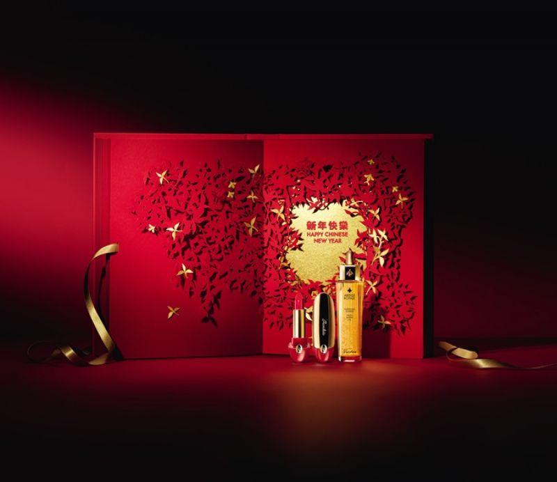 嬌蘭 皇家蜂王乳平衡油紅綻迎春限量版50ml,NT5,300嬌蘭 紅寶之吻唇膏#25火鶴紅新年限量版3.5g,NT2,050