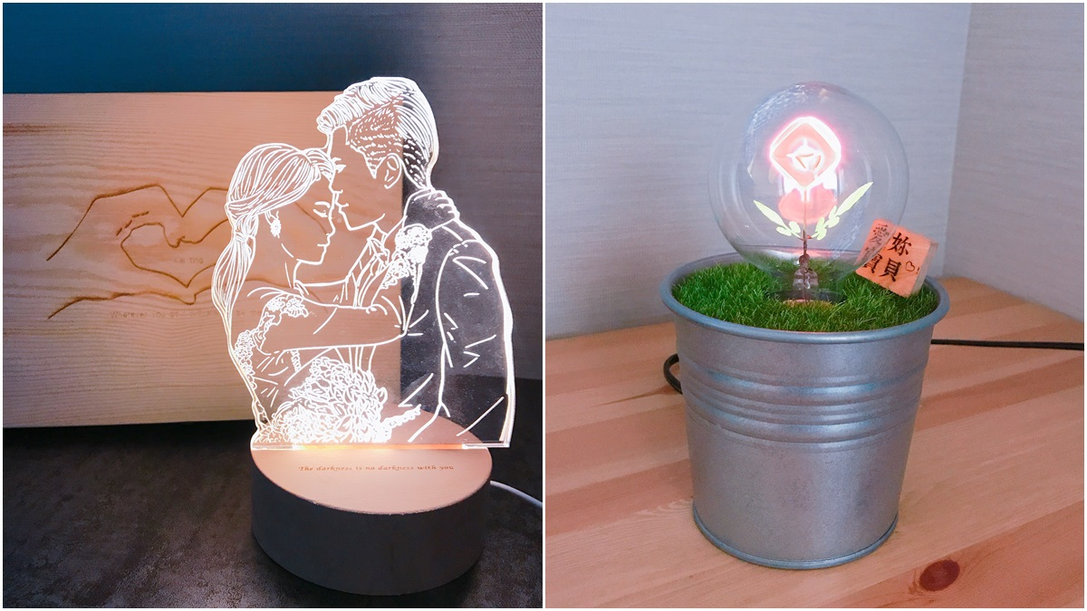 就是要跟別人不一樣!放閃黑玫瑰、情人擁抱燈飾Pinkoi推出2款情人節客製化設計禮物(加映放火燒卡片)