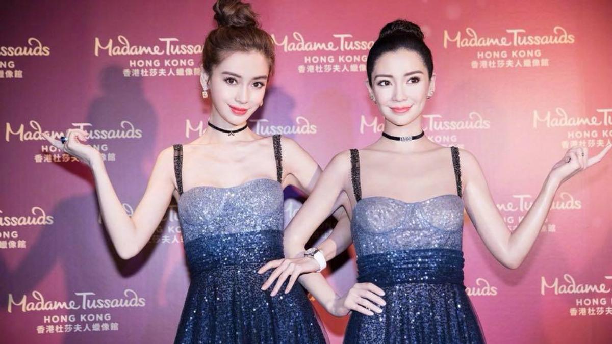 星空美裙鎮壓全場!首位女藝人進駐時尚區,Angelababy為香港杜莎夫人蠟像館分身揭幕~