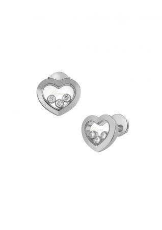 CHOPARDHappy Diamonds系列耳環白K金與3顆滑動鑽石售價NT145,000