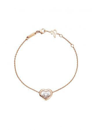CHOPARDHappy Diamonds系列手鍊玫瑰金與3顆滑動鑽石售價NT87,000