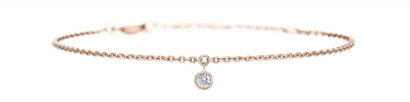 DE BEERSDewdrop系列手鍊玫瑰金與單鑽售價NT28,000