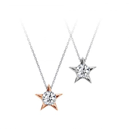 HEARTS ON FIREIlla系列單鑽星星項鍊18K玫瑰金/ 白K/ 黃K金主鑽0.15ctNT$36,800起