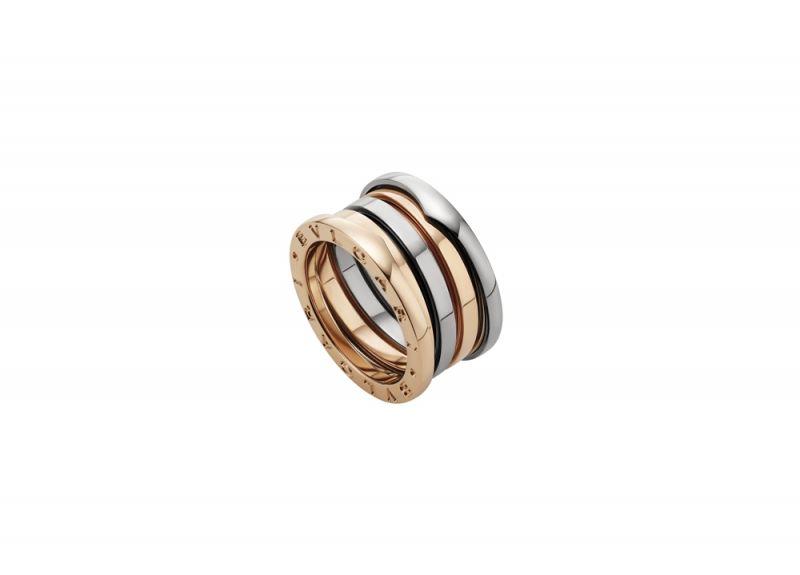 BVLGARIB.zero1 Labyrinth迷宮系列白K金和玫瑰金四環戒指參考價格NT$65,700